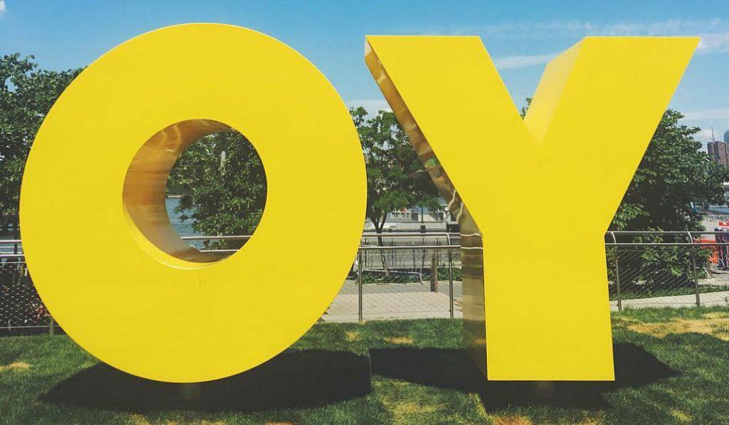 OY/YO Sculpture Returns to Brooklyn Waterfront
