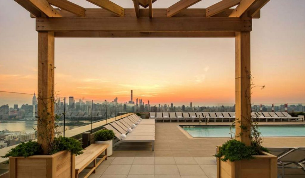 Images of LIC's New Tower Reveal NYC's highest rooftop pool