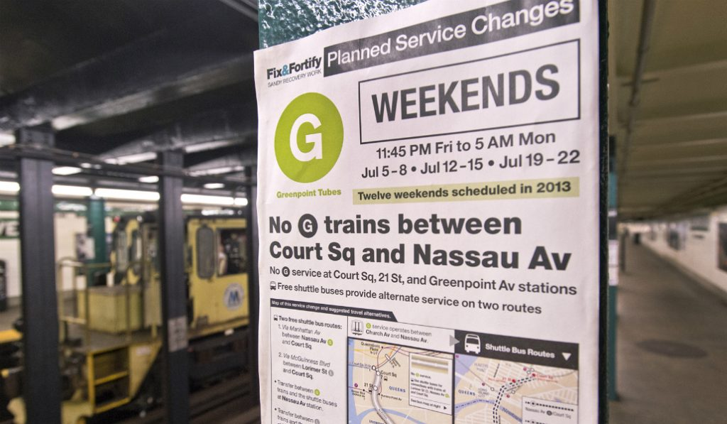 The Eternal Struggles of Weekend Subway Commutes