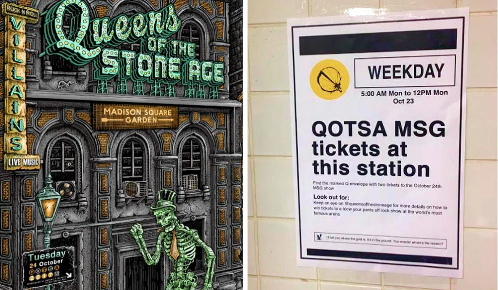 Snag the Last Queens of The Stone Age Tickets Hidden on the NY Subway