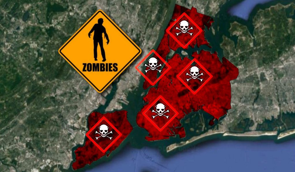 Report Shows NYers Are The Least Likely To Survive A Zombie Outbreak
