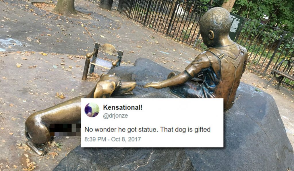 NSFW Statue Of A Dog in Prospect Park Sets Twitter on Fire