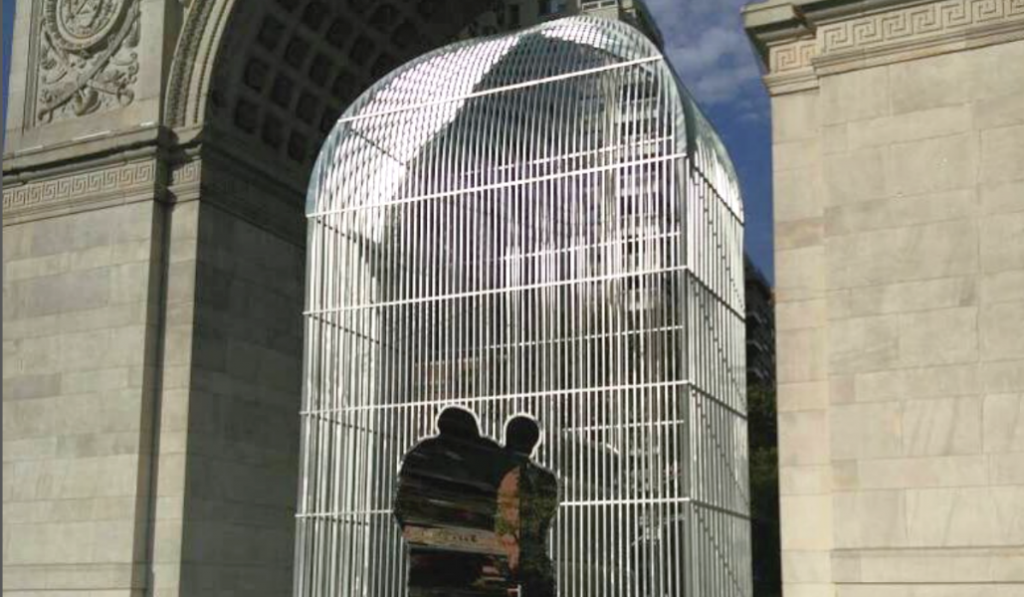 Ai Weiwei's Controversial Installation is up Under Washington Square Park Arch
