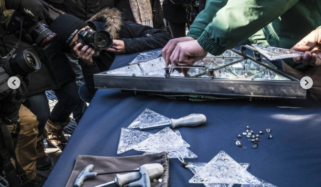 New Crystals Get Installed on the New Year's Eve Ball in Times Square