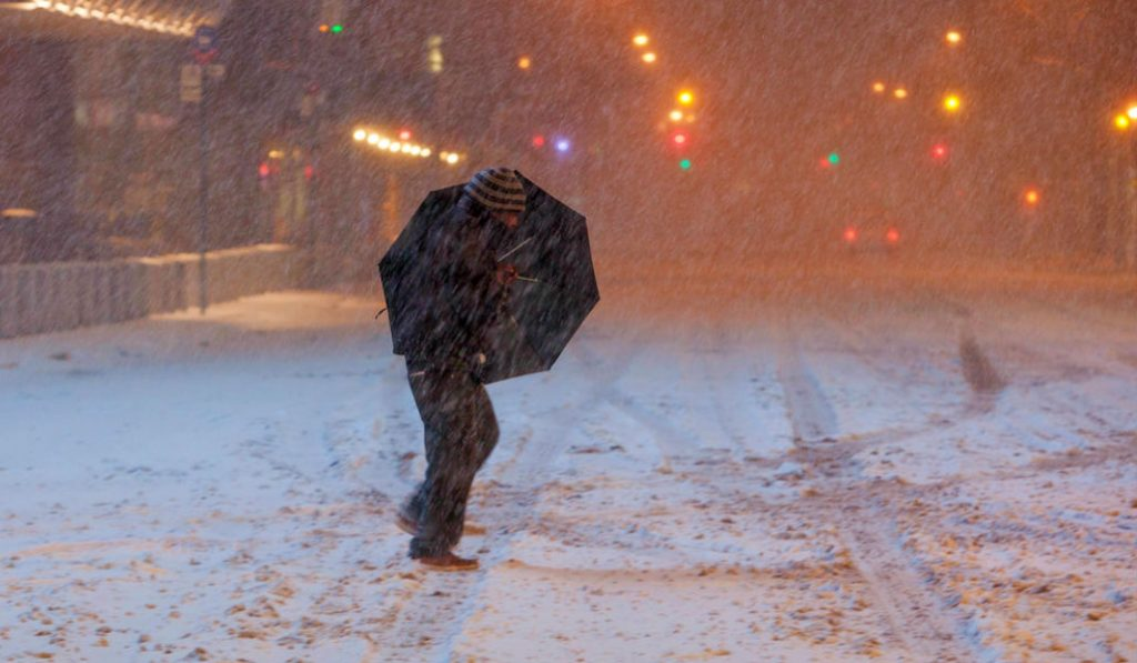 An Arctic Chill and Icy Winds Grip NYC for New Years Eve