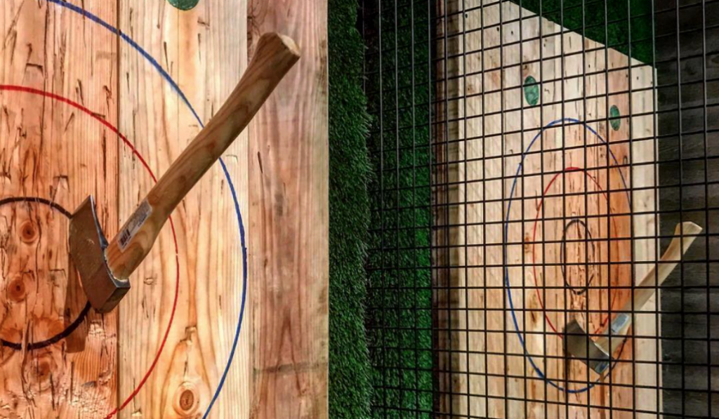 New Axe-Throwing Bar in Brooklyn Lets You Throw as You Drink
