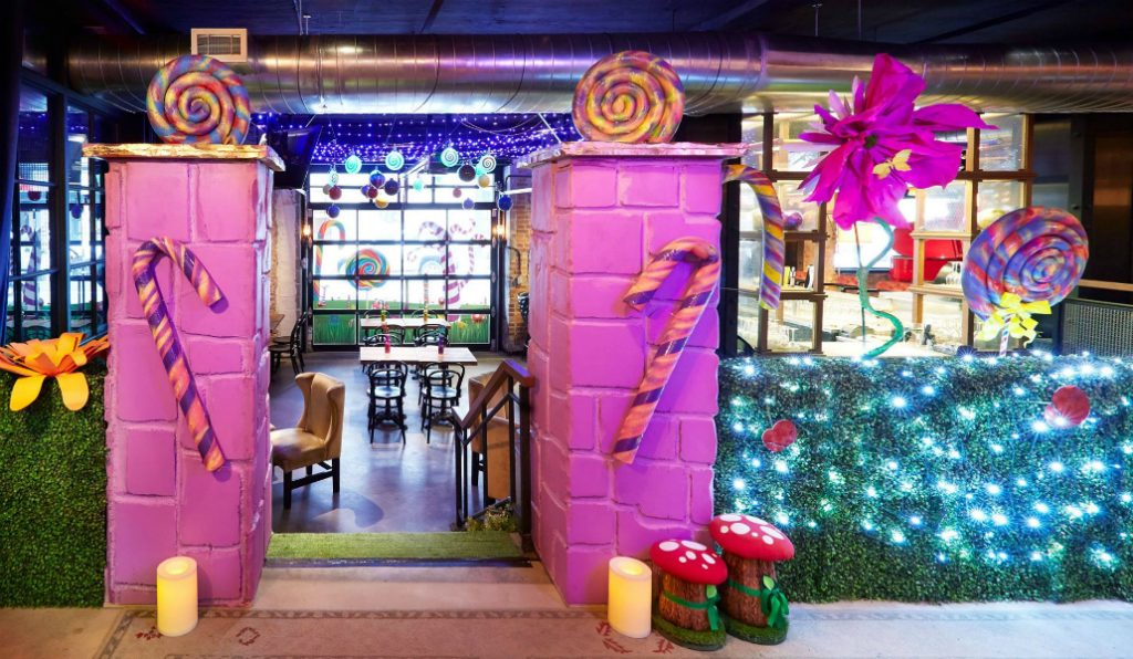 This Willy-Wonka Inspired Holiday Pop-Up is the Ultimate NYC Cocktail Candyland
