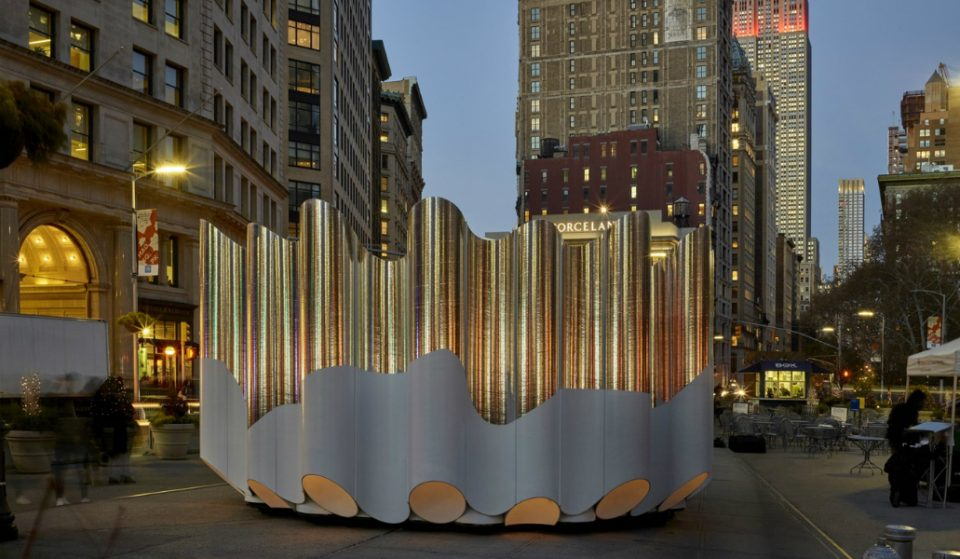 New Art Installation Brings Holiday Brightness to Flatiron