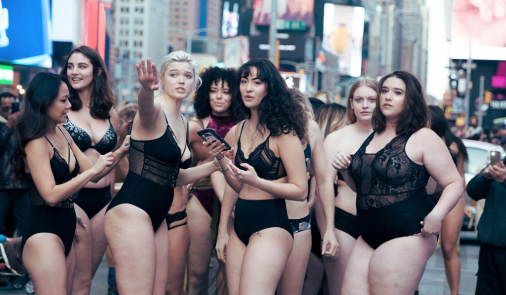 This Body Positive Lingerie Fashion Show Took Over the Streets of Times Square