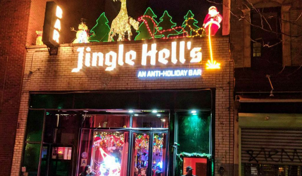 """Hilarious Anti-Holiday Pop-up Bar, """"Jingle Hell's"""" Opened in the East Village"""