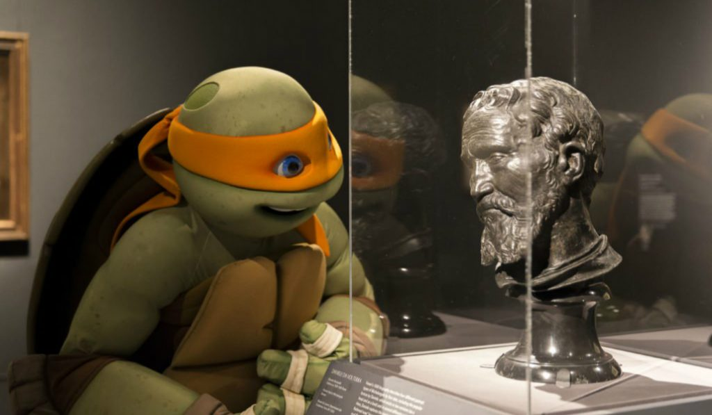 Ninja Turtle Makes MET Appearance for an Exhibition on his Namesake
