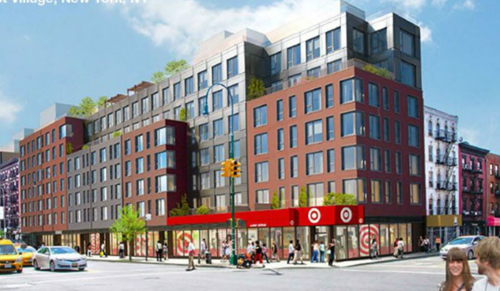 Target Displays First Sign of its East Village Opening This Summer