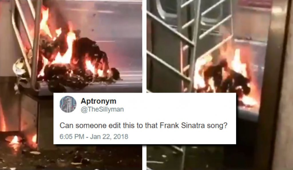 This Fire on an F train Subway Seat Has Twitter Going Nuts