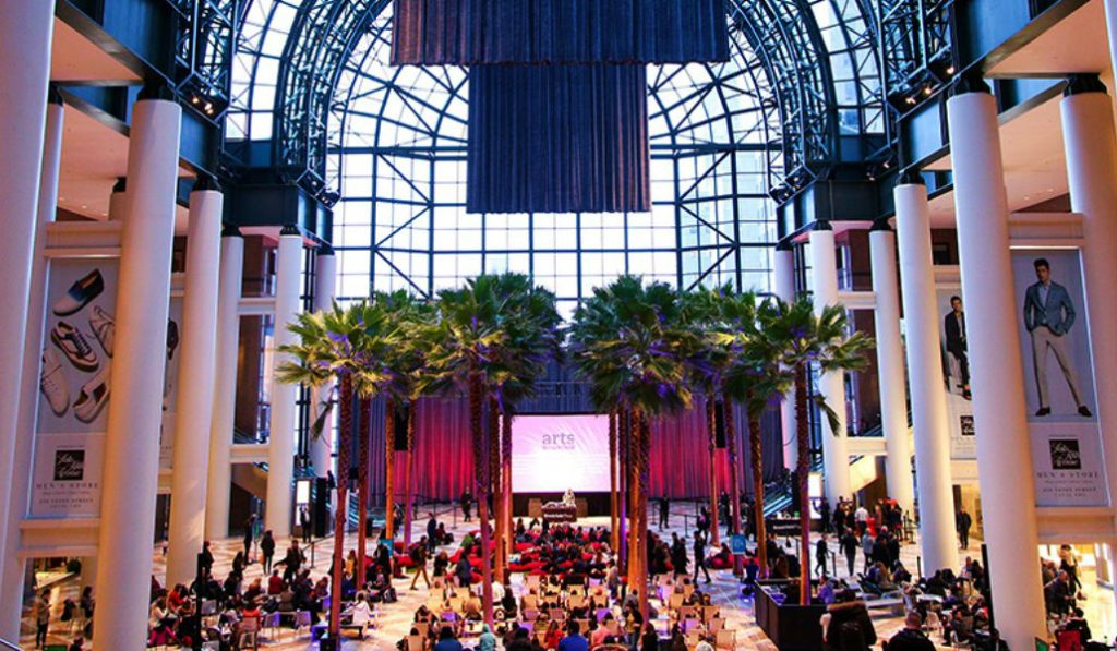 Watch a Free Movie Under the Palm Trees at Brookfield Place's Indoor Atrium