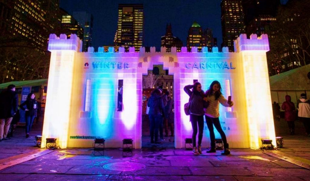 Bryant Park Winter Carnival is Back With a Gigantic Ice Castle