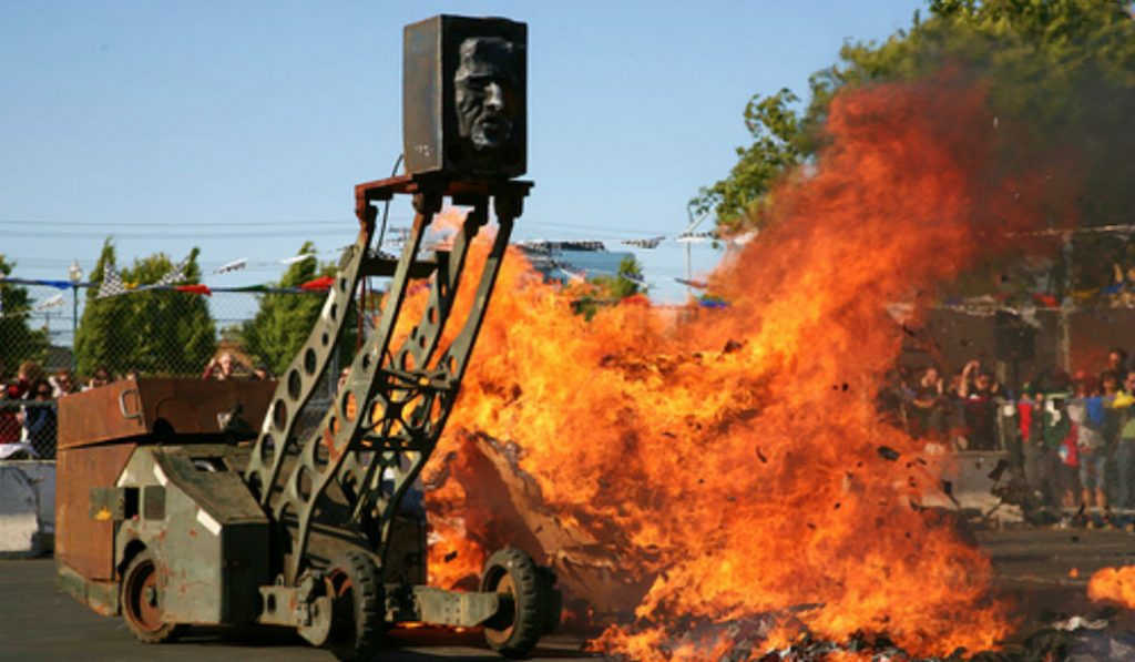 See Chaotic Fire-Breathing Robots at an Art Gallery in Chelsea
