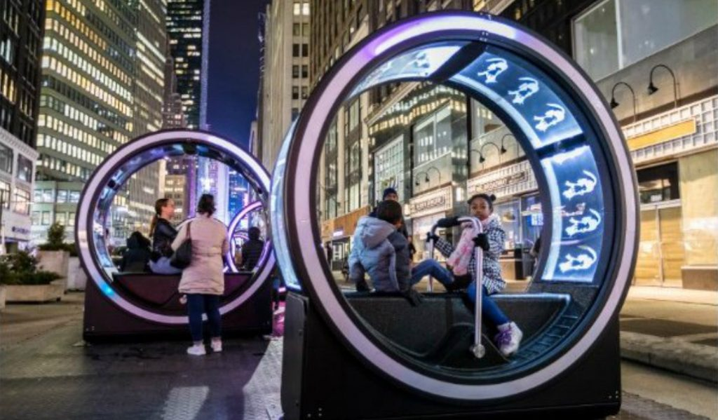 These Trippy Light Loops are NYC's Newest Immersive Art Installation