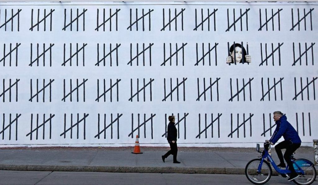 Banksy Is Back In NYC With A Political Message