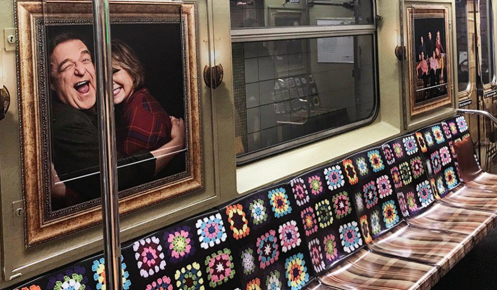 "TV Sitcom ""Roseanne"" Makes an Appearance on NYC Subways"