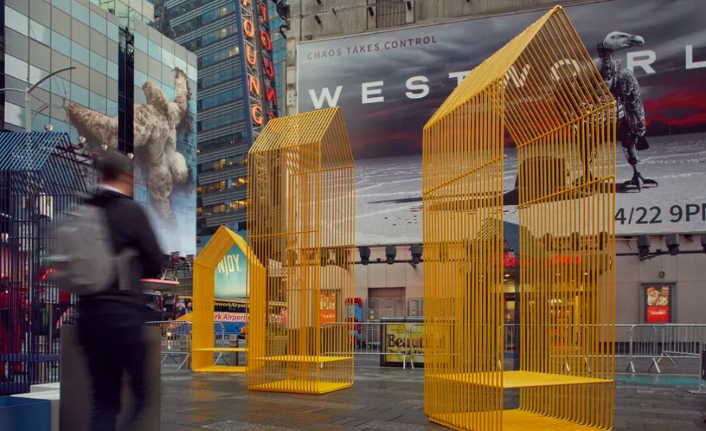 Design Lab's Interactive Installation Is Officially Up At Times Square