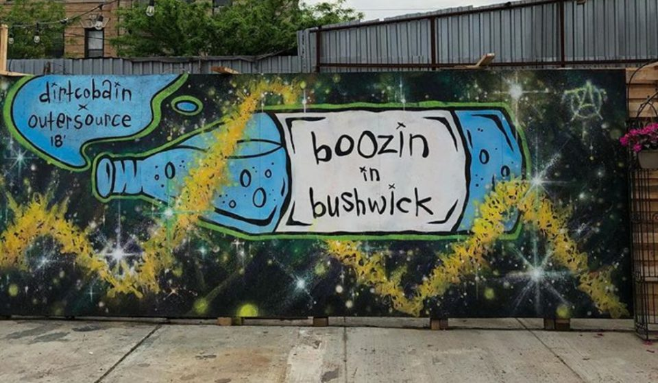A New Graffiti Beer Garden Has Opened For The Summer In Brooklyn