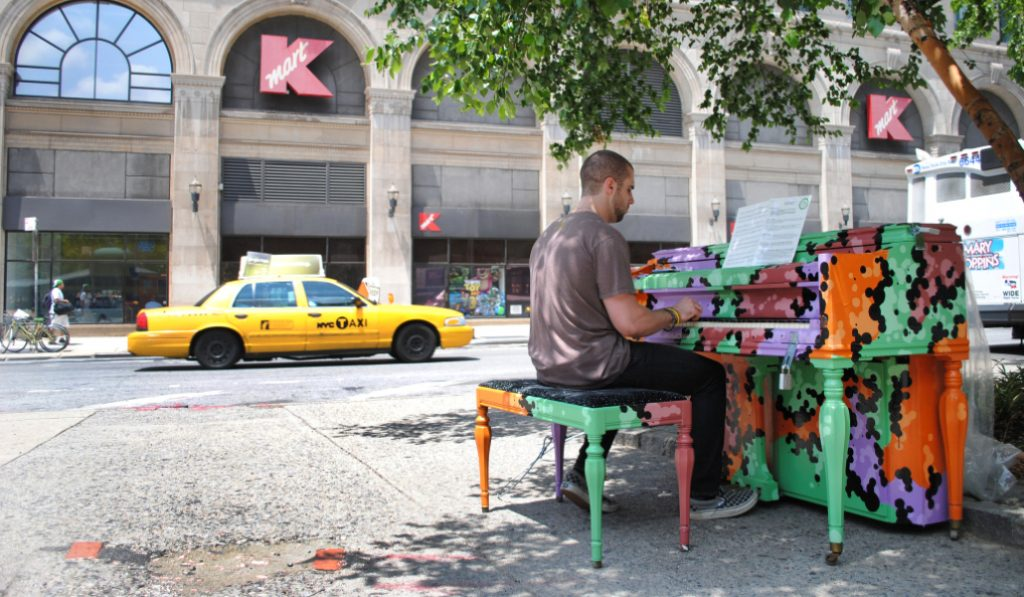 A City Wide Initiative Brings Pianos Outdoors For The Start Of Summer