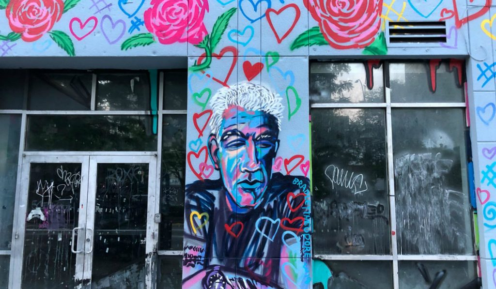 Touching Mural Honoring Anthony Bourdain Appears in Lower East Side