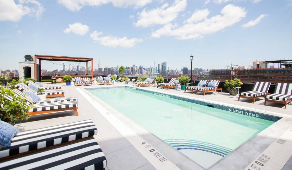 New Rooftop Pool With Stunning Views of NYC is Officially Open!