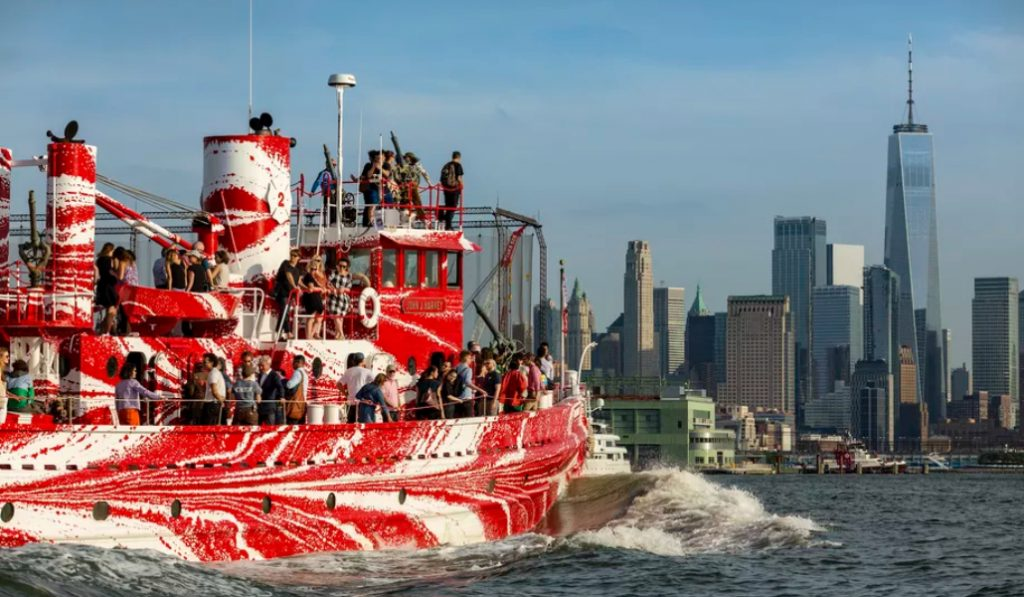 This Historic NYC Fire Boat Just Got A Face-lift And It's Gorgeous