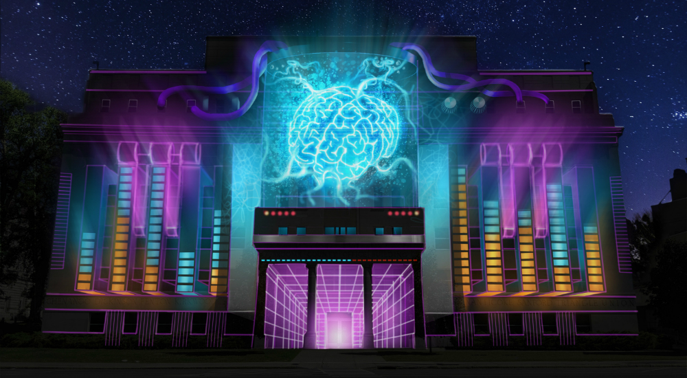 This Trippy 3D Light Festival is Taking Over a City in Upstate NY