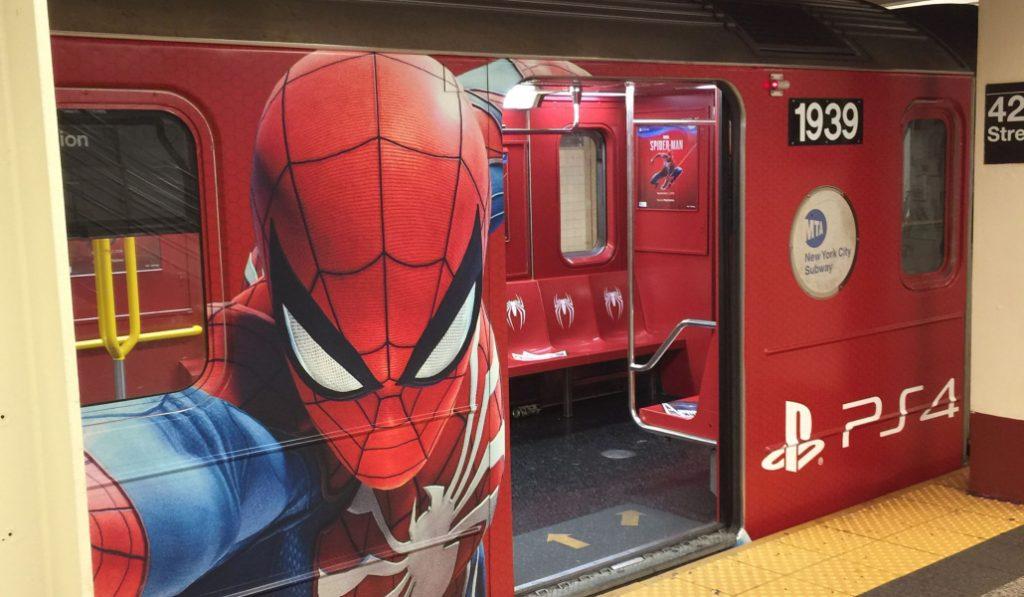 Spider-Man Is Taking Over New York City's Subways