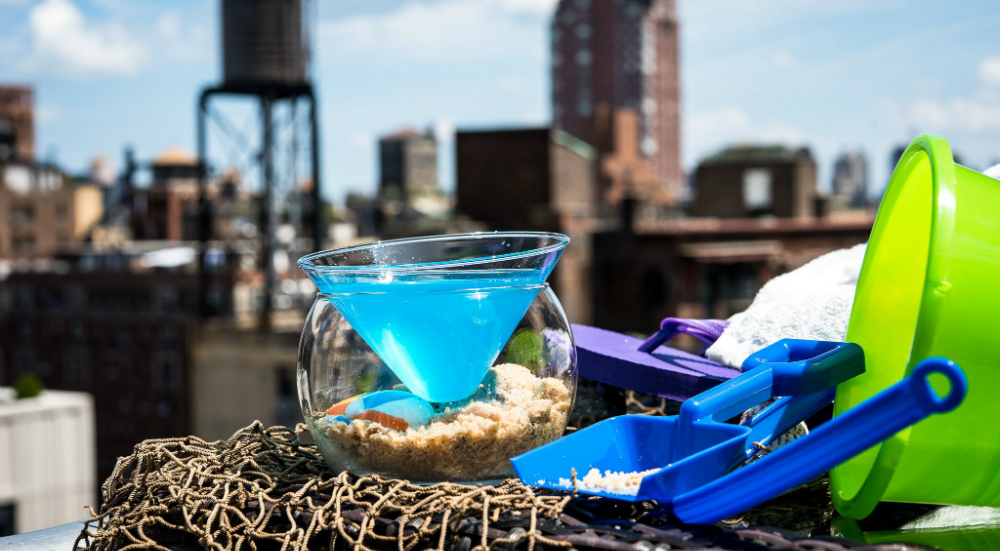 Rooftop Bar Transforms Into a Pop-Up 'Secret Beach' to Extend Summer Vibes in NYC