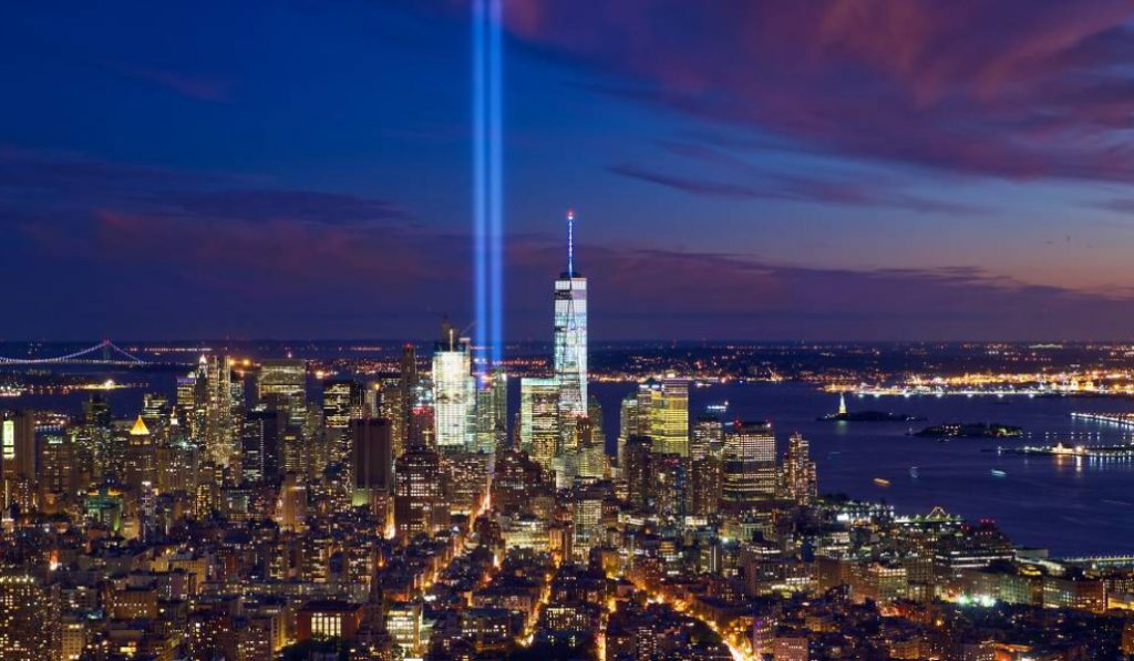 The 9/11 Tribute Lights Are Now Shining In NYC