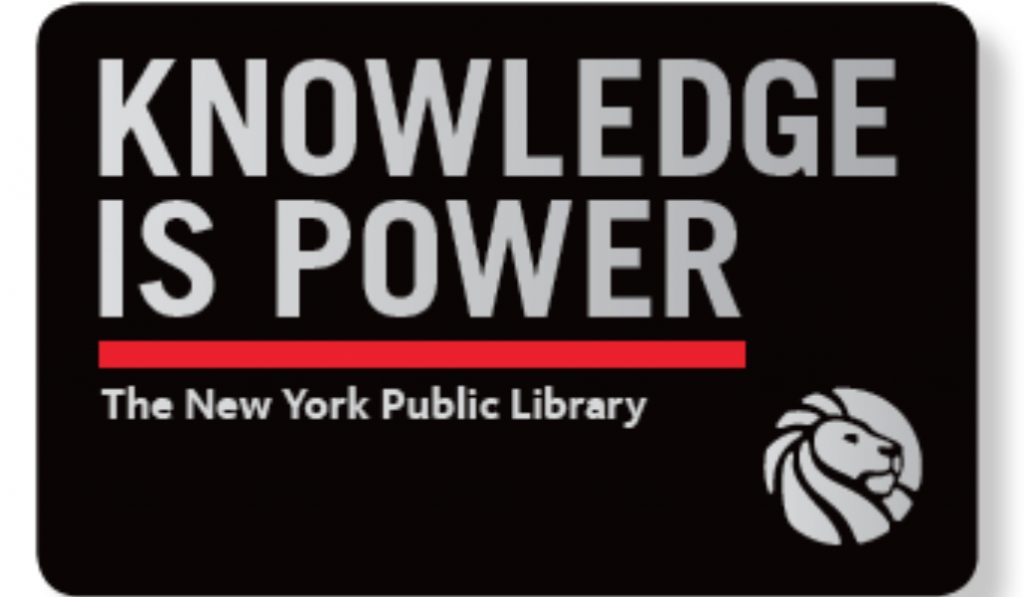 """The NYPL Is Now Offering A """"Knowledge Is Power"""" Limited Edition Library Card"""