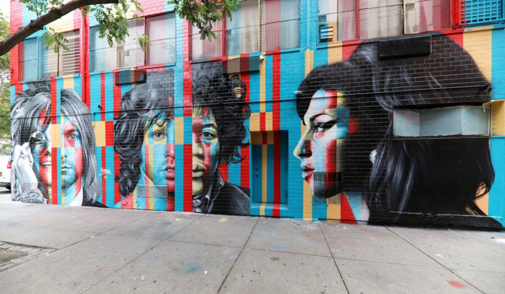 A New Mural Featuring Different Musical Legends Is Now Up In The LES