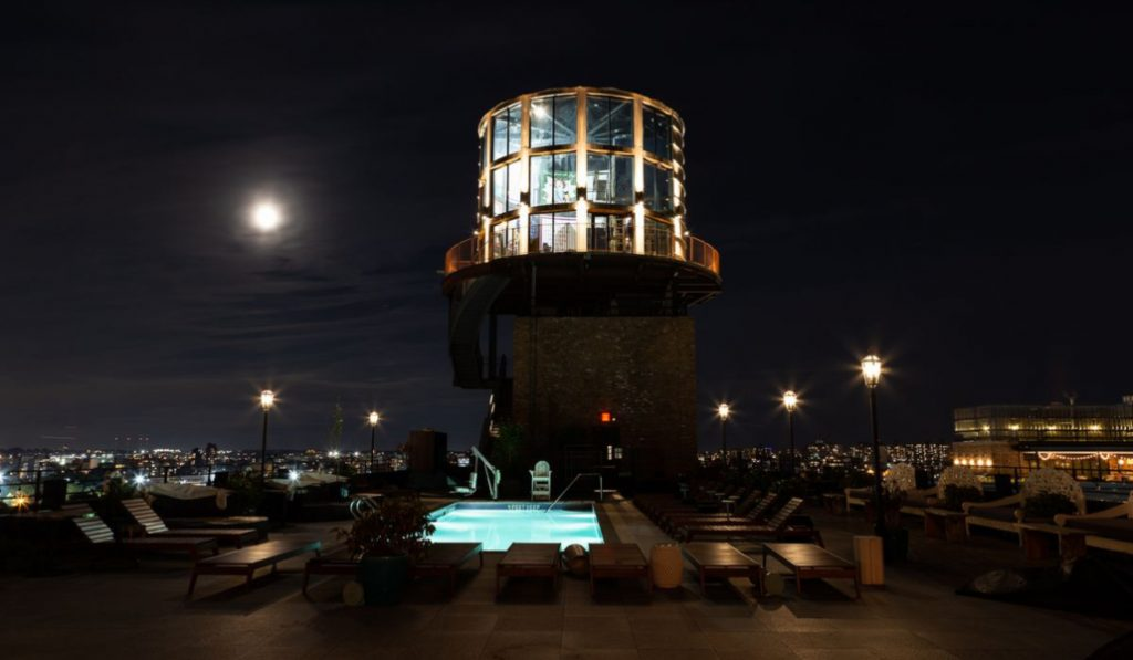 A New Bar Is Open In A Williamsburg… Water Tower?