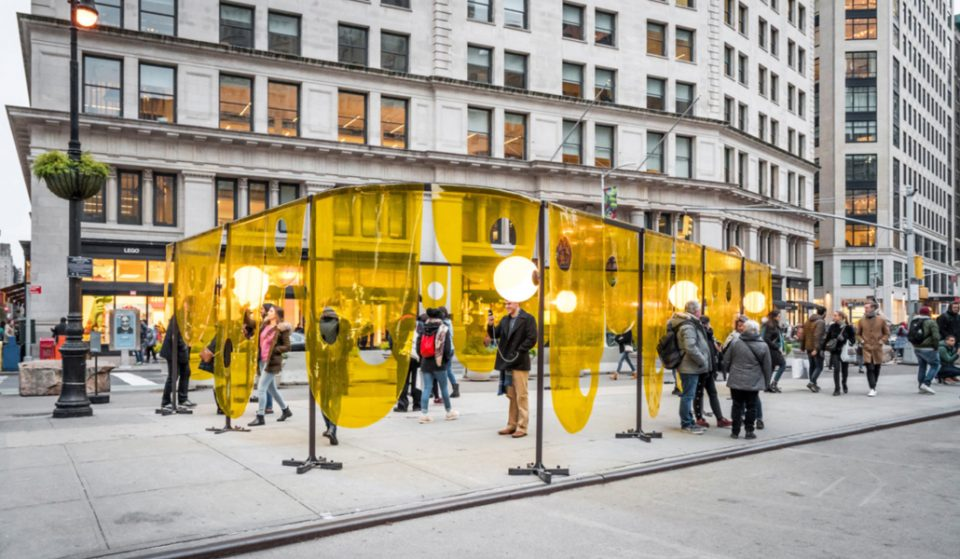 A New And Colorful Art Installation Is Now Up In The Flatiron Plaza