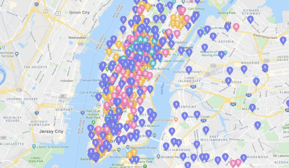 Every Open Bathroom In New York City On One Map