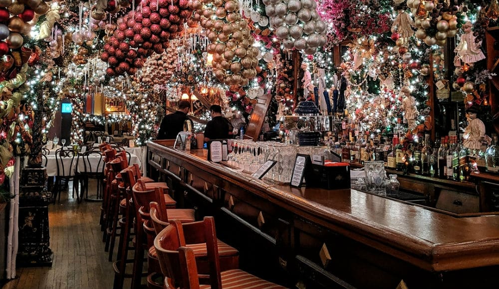 The Christmas Decorations At Rolf's German Restaurant Are Totally Over The Top