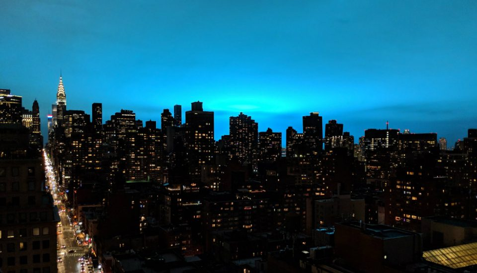The NYC Sky Turned Into An Eerie Blue Last Night After An Explosion At Con Ed In Astoria