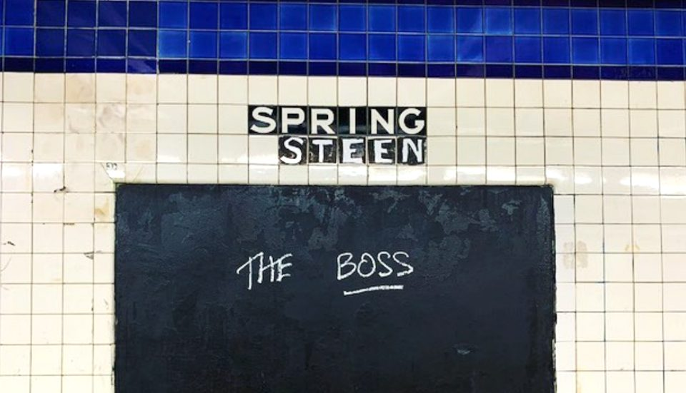 Spring Street Subway Station Transforms Into A Bruce Springsteen Tribute
