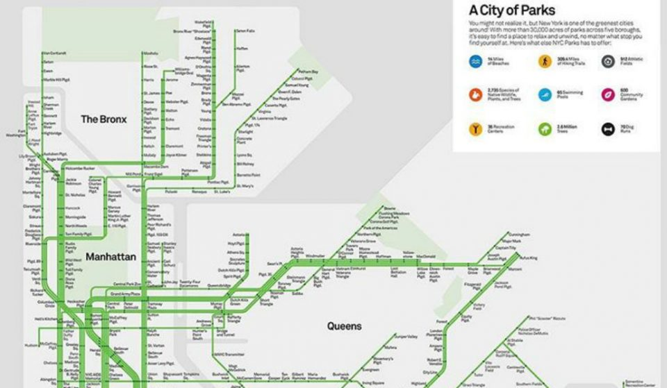 This New NYC Map Makes Planning Out Your Day A Walk In The Park