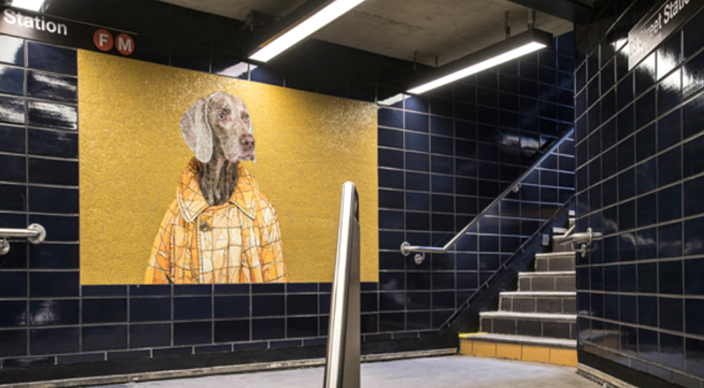 Adorable Puppy Mosaics Take Over The 23rd Street Subway Station