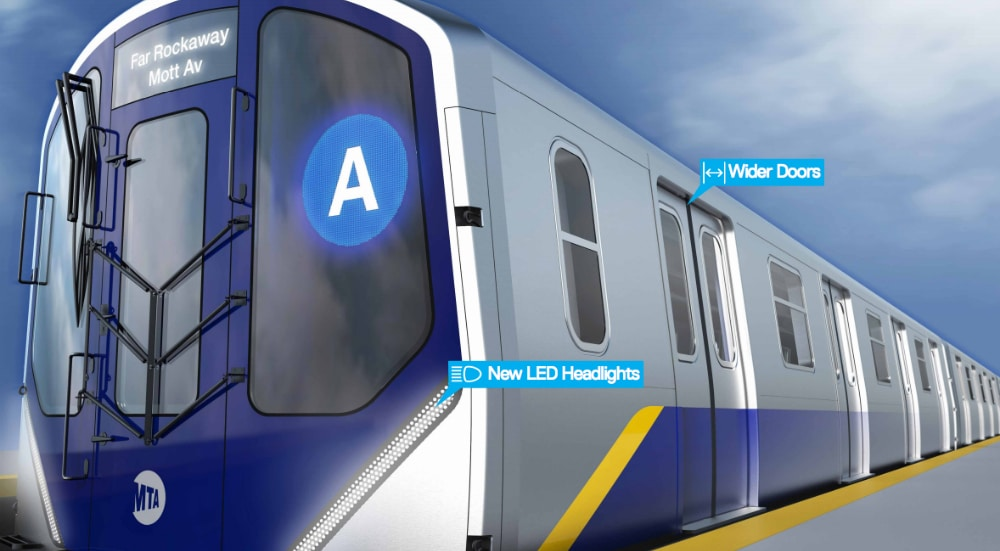 MTA Will Roll Out Redesigned Subway Cars With 'Open Gangways' By 2020