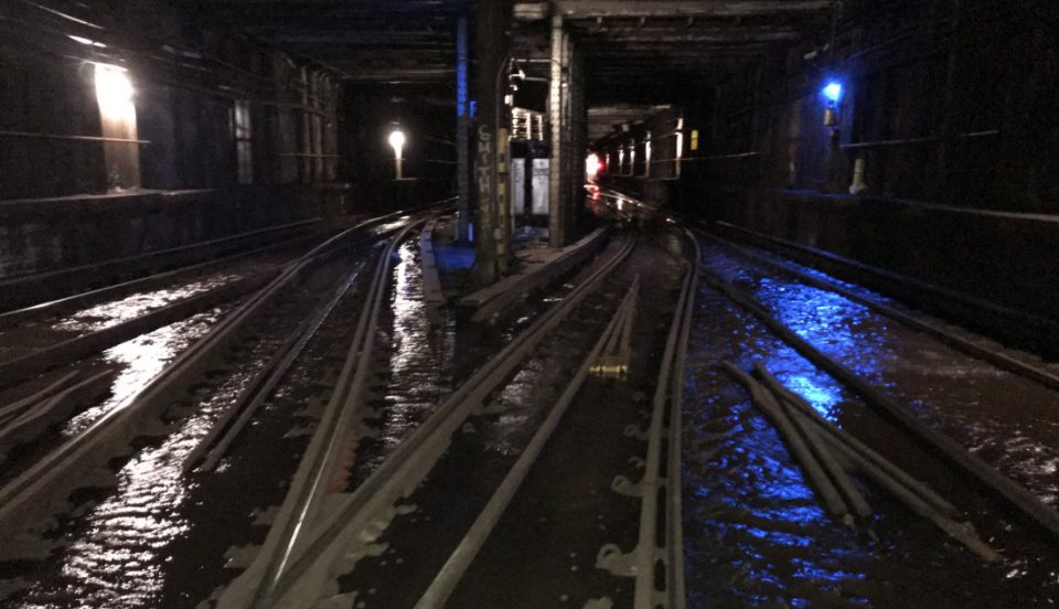 A Water Main Break Has Caused Flooding And Crazy Delays Along The L-Line This Morning