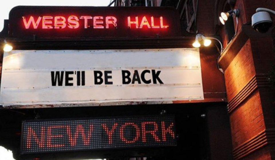 The Legendary NYC Music Venue Webster Hall Is Set To Re-Open This Year