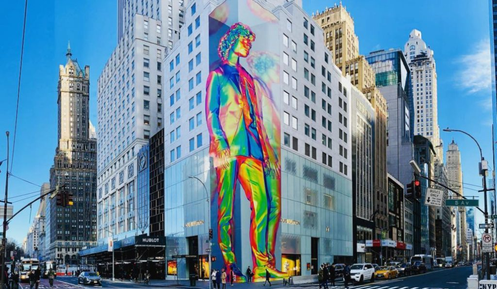 A Colorful New Mural Is Up Now On The Corner Of This 5th Avenue Building