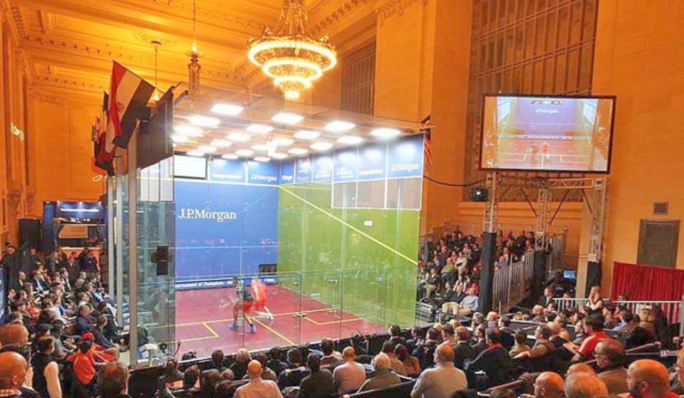 Grand Central Is Hosting A Giant Indoor Squash Tournament This Week
