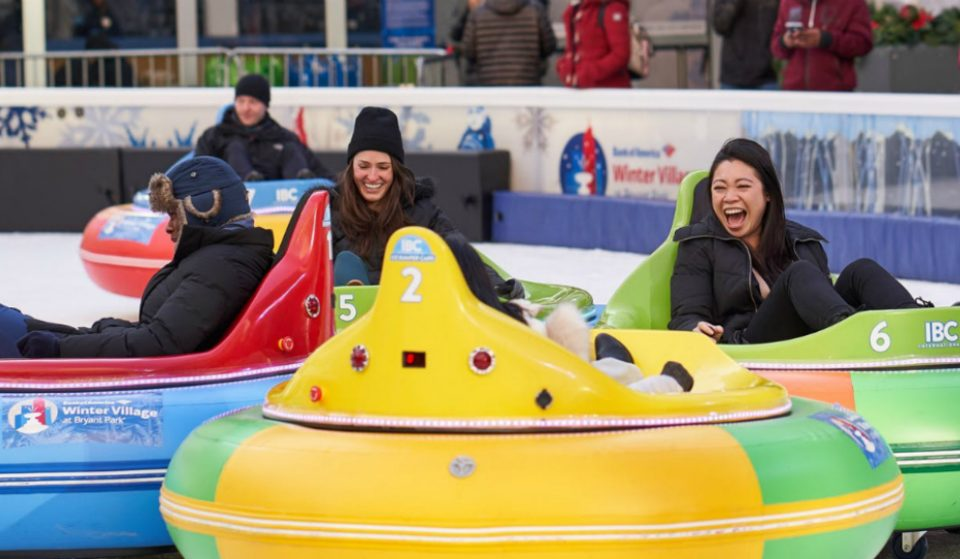Bumper Cars Are Hitting The Ice Rink In Bryant Park This Weekend