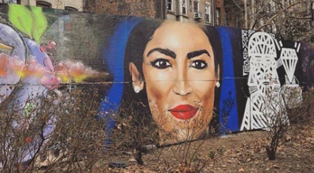 A Massive Alexandria Ocasio-Cortez Mural Pops Up On The Lower East Side